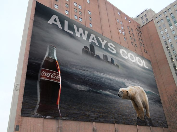 Clint Webster Graphic Design Work Polar Bear Coke Ad Mock Up