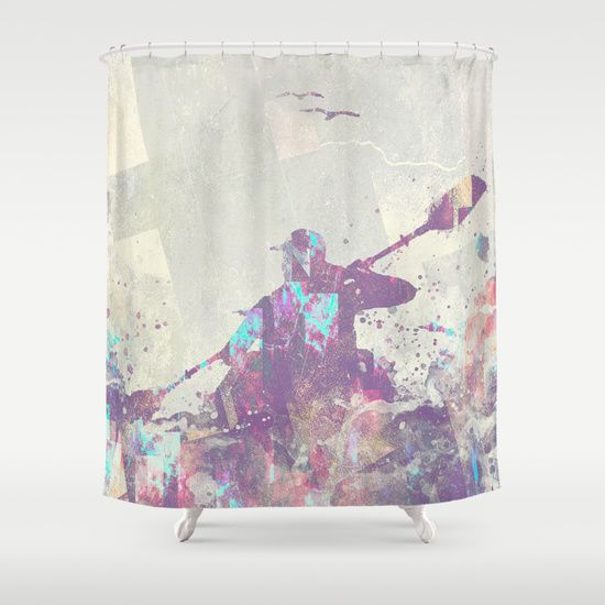 Buy Shower Curtains featuring Explorers II by HappyMelvin. Made from 100% easy care polyester our designer shower curtains are printed in the USA and feature a 12 button-hole top for simple hanging.