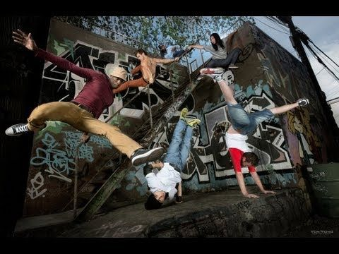 Joel Kesler - SteadyCam Op & Video: Parkour vs Bboy - Lighting with Elinchrom, via YouTube.