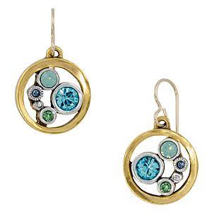Go-Karts Earrings in Gold Zephyr by Patricia Locke Jewelry