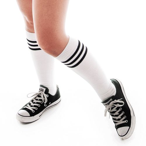 General purpose high tube socks. Sporty, fashionable and we have TONS of colors.