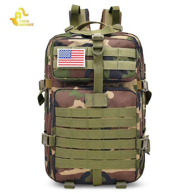 45L Molle Outdoor Sports Military Tactical Bag Camping Hiking Trekking Backpack