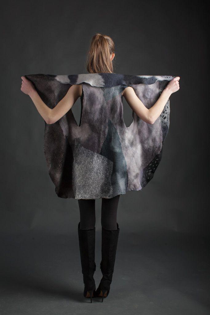 felt vest Ava by lanahandmade