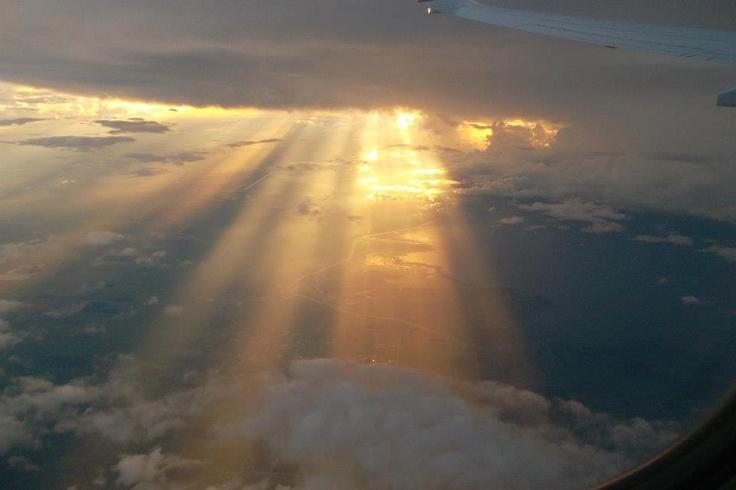 Desde el avión llegando a DC