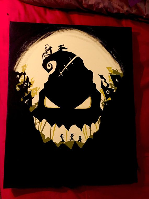 The nightmare before Christmas painting by SkyCreationsArt on Etsy