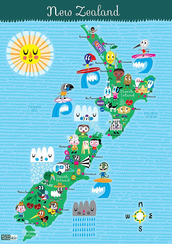 Love this New Zealand Map from NZ company Kissy Kissy Kids