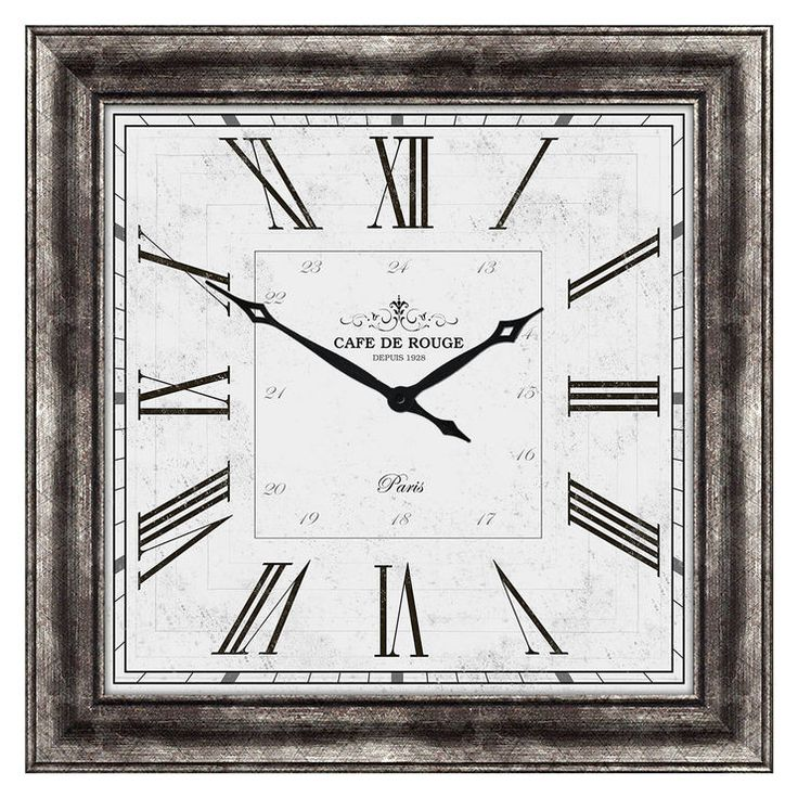 40 X 40-in Traditional Silver Roman Numeral Clock with Silver Face