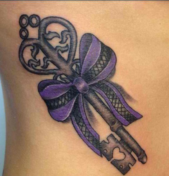 Key tattoo design !! Lock tattoos