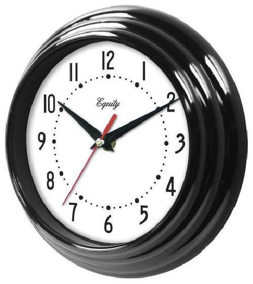 Details About Equity By La Crosse Black 8 Inch Wall Clock Quartz Metal Hands From Us Seller Wall Clock Clock Metal