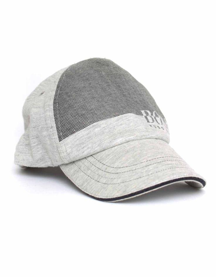 Boss Grey Dot Print Cap | Accent Clothing