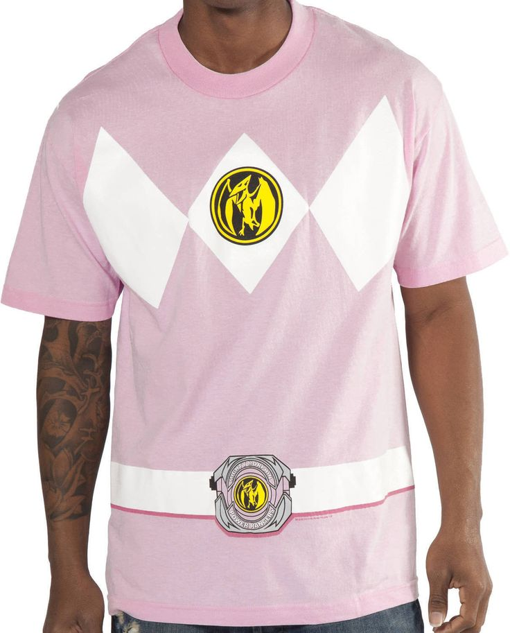 Pink Power Rangers Shirt