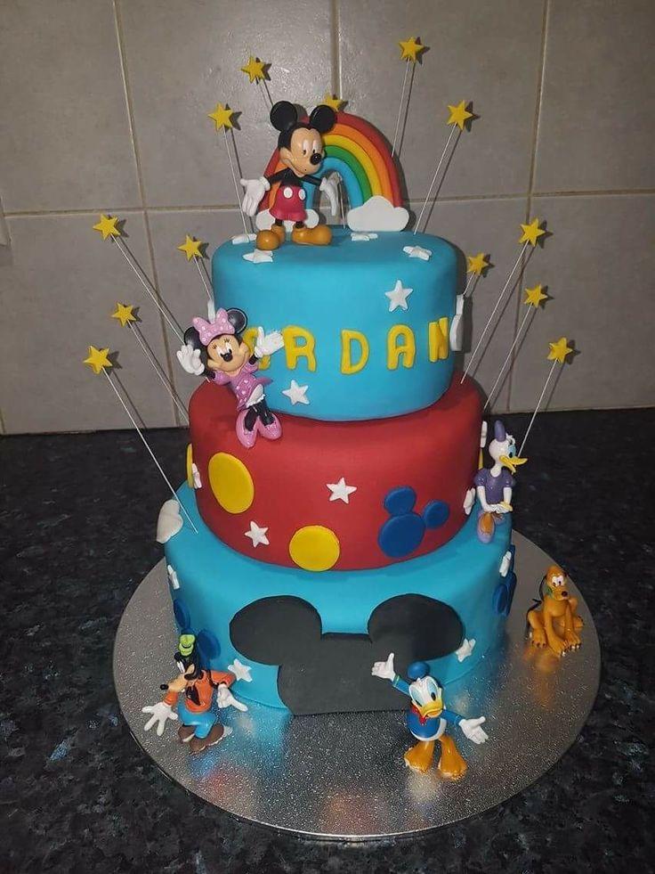 Three Tier Mickey Mouse Cake.