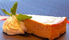 Low-cal pumpkin cheesecake from Robert Irvine