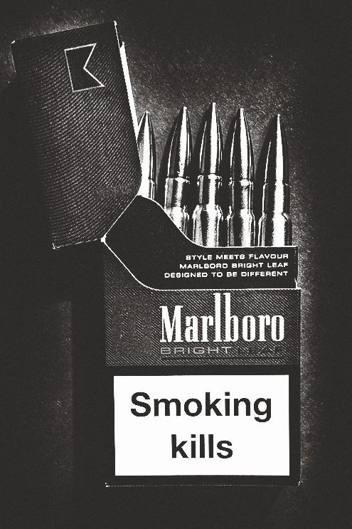 Smoking kills. you're shooting yourself in the mouth every time