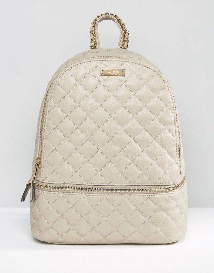 ALDO Quilted Backpack With Zip Around Pocket