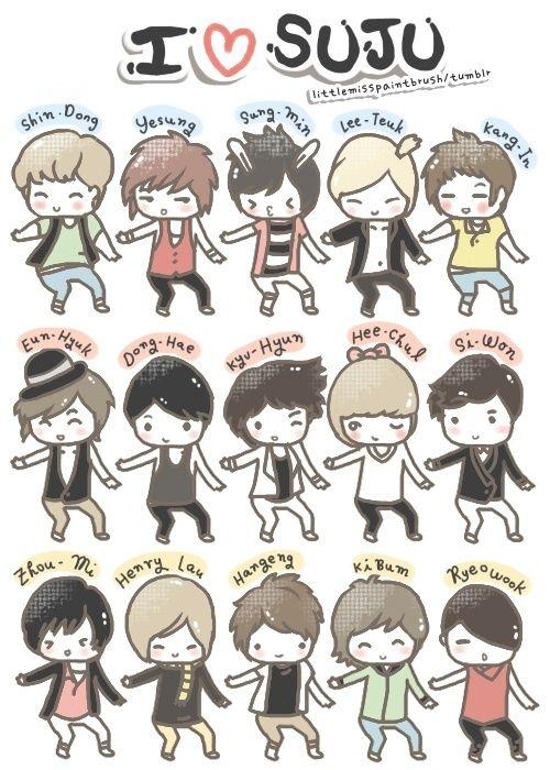 Super Junior chibi.