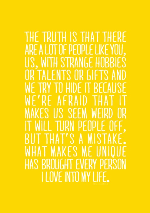 this lovely quote brought to you by Ned of pushing daisies. I absolutely loved that show, and I love this quote. It is absolutely true!