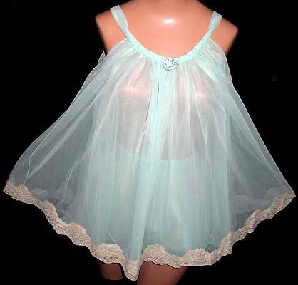 Vintage 1960s Rovel nylon baby doll pajamas - Courtesy of thespectrum I certainly had my share of these in the hot summers