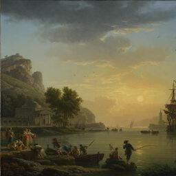 Claude-Joseph Vernet | A Landscape at Sunset | NG6600 | National Gallery, London