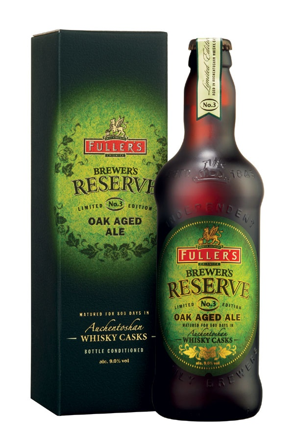 Aged in Auchentoshan whisky casks for over 800 days: Fuller's Brewer's Reserve No.3.