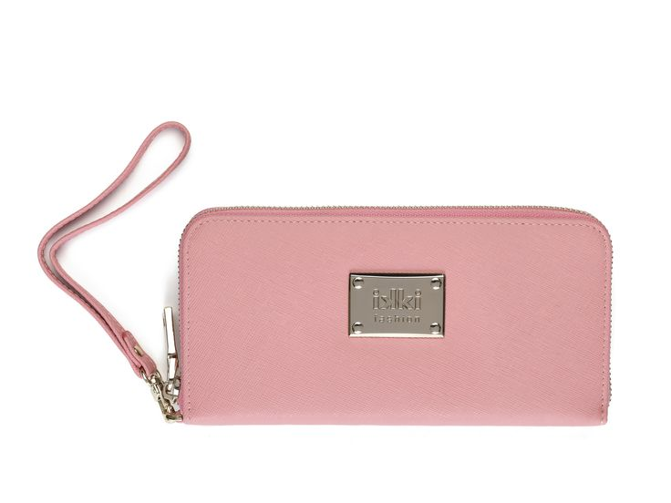 roze, pink, gold, ikki fashion, portemonnee, wallet, purse, leather goods, leer