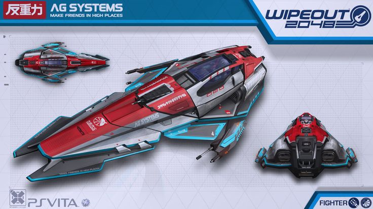 AG Systems Fighter - Wipeout2048 - PSVita by nocomplys on deviantART