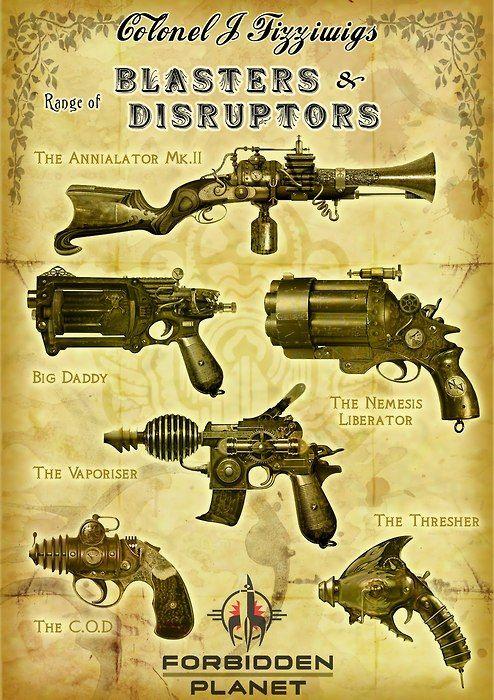 Steampunk ray guns
