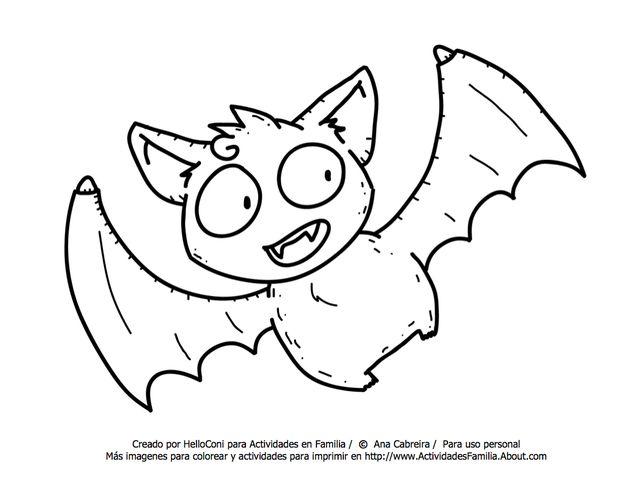 10 dibujos de halloween para imprimir y colorear halloween - Murcielago para imprimir ...