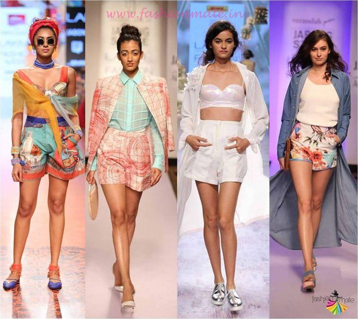 Shorts and Skorts fashion trends spring summer 2015 at lakme fashion week 2015