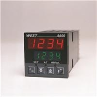 West 6600 / 8600 Temperature Controller    -  Single loop temperature / process controller  -  1/16 DIN (48 x 48mm) & 1/8 DIN (96 x 48mm)  -  Profiler function – 2 programs x 16 segment  -  70mm depth behind panel  -  Universal Input & 2 or 3 Outputs  -  Two Auto-tune algorithms: Pre-tune plus Self-tune.