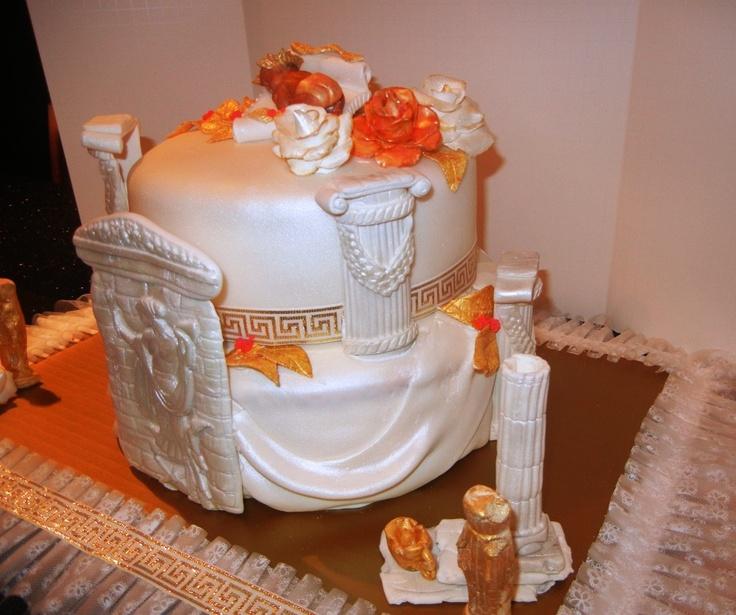 Greek Mythology Party Theme Google Search: Greek-theme Baby Shower Cake - By Funfetti Cakes