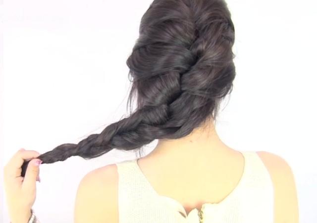 PEINADOS CON TRENZAS ENROLLADAS : Peinados y cortes de cabello