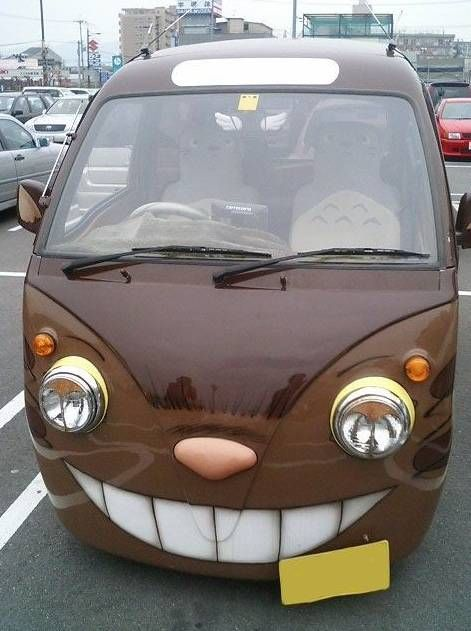It's the cat car from Totoro and he's behind the wheel if you look close enough.