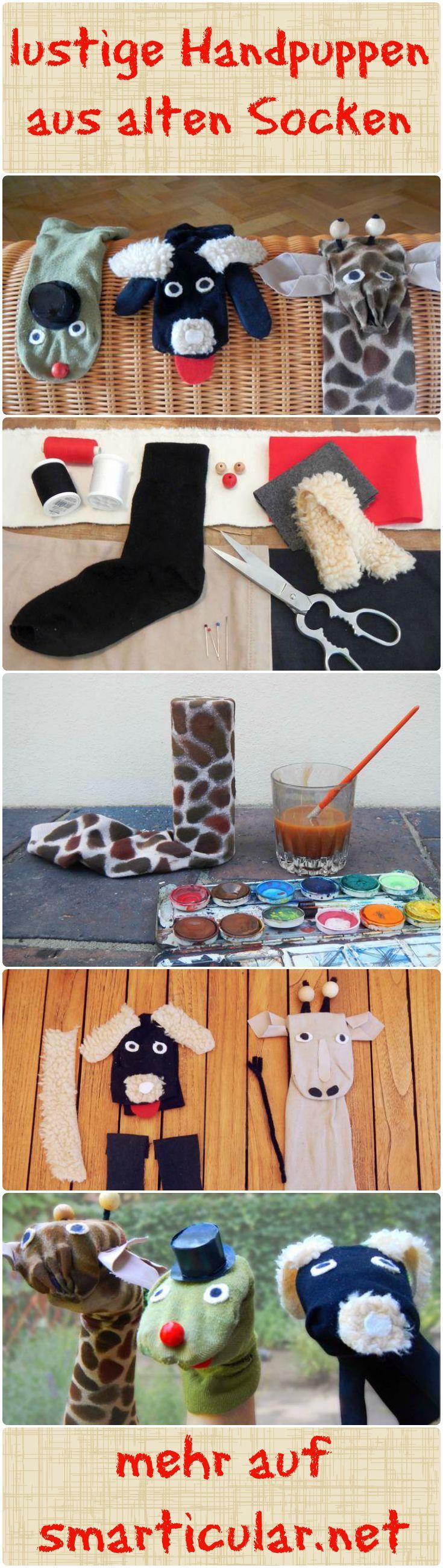 In deiner Sockenschublade sammeln sich einzelne, einsame Strümpfe? Kein Problem! Mache gemeinsam mit deinen Kindern Handpuppen daraus - wir zeigen dir, wie!