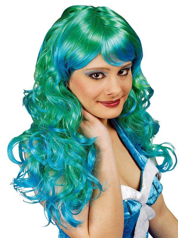 Langhaar Lockenperücke Strähnen grün-blau aus der Kategorie Karnevalsperücken. Sie wollten sich schon immer in eine bezaubernde Meerjungfrau verwandeln? Mit dieser genialen Faschingsperücke haben Sie die einmalige Möglichkeit dazu!