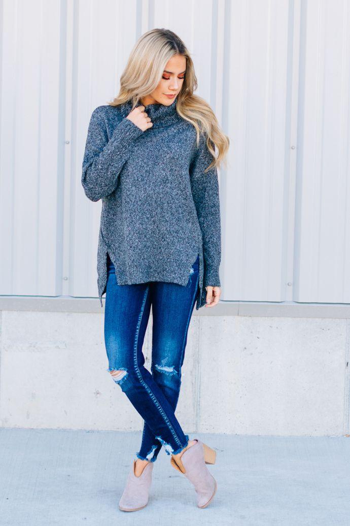 b8abb76bd13 Peppered Coal Cowl Sweater