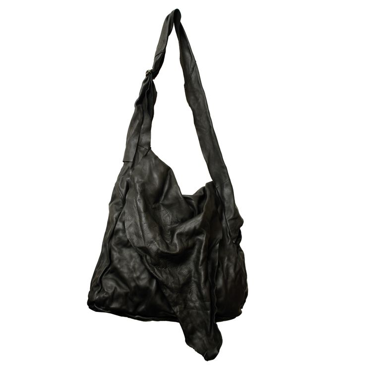 AGAIN - www.mymist.it - black tote leather