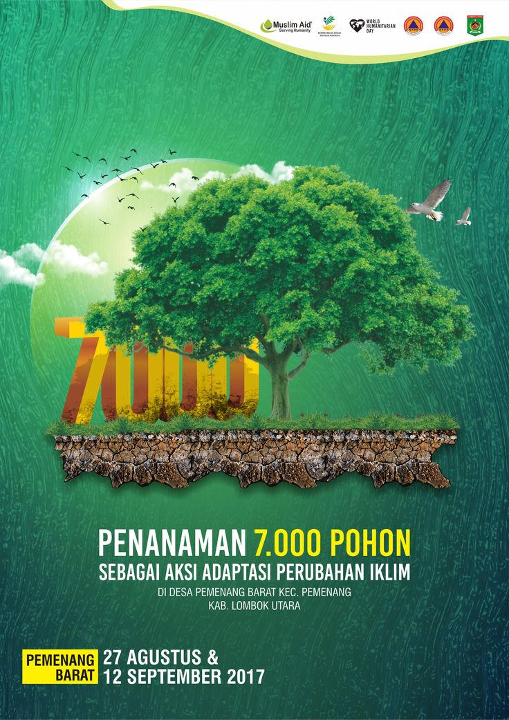 Poster 7000 Pohon Client : Muslim Aid Indonesia