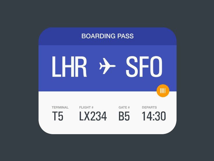 Material Boarding Pass