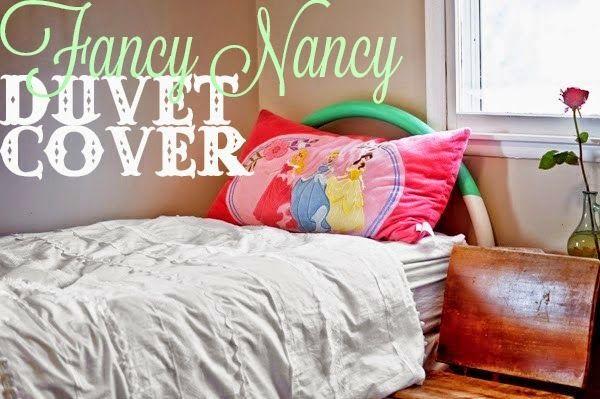 Tangible Artiste: Fancy Nancy Duvet Cover Tutorial