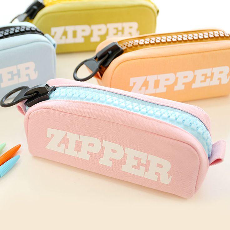 Cool Large Zipper Pencil Case Cute Pencil Pouch Pen Purse Makeup Cosmetic Bag #Unbranded