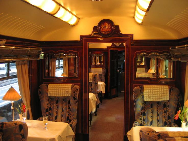 """The British Pullman is a luxury, vintage day train that completes the British leg of Orient-Express journeys between Paris and London. Passengers from the Venice Simplon-Orient-Express debark in Calais, France, and board a special Orient-Express bus for the short """"piggyback"""" train ride through the Eurotunnel to Folkestone. There, they board the British Pullman for the ride to London's Victoria station.Fabulous food, lovely scenery and riding on such a gorgeous and historic train."""
