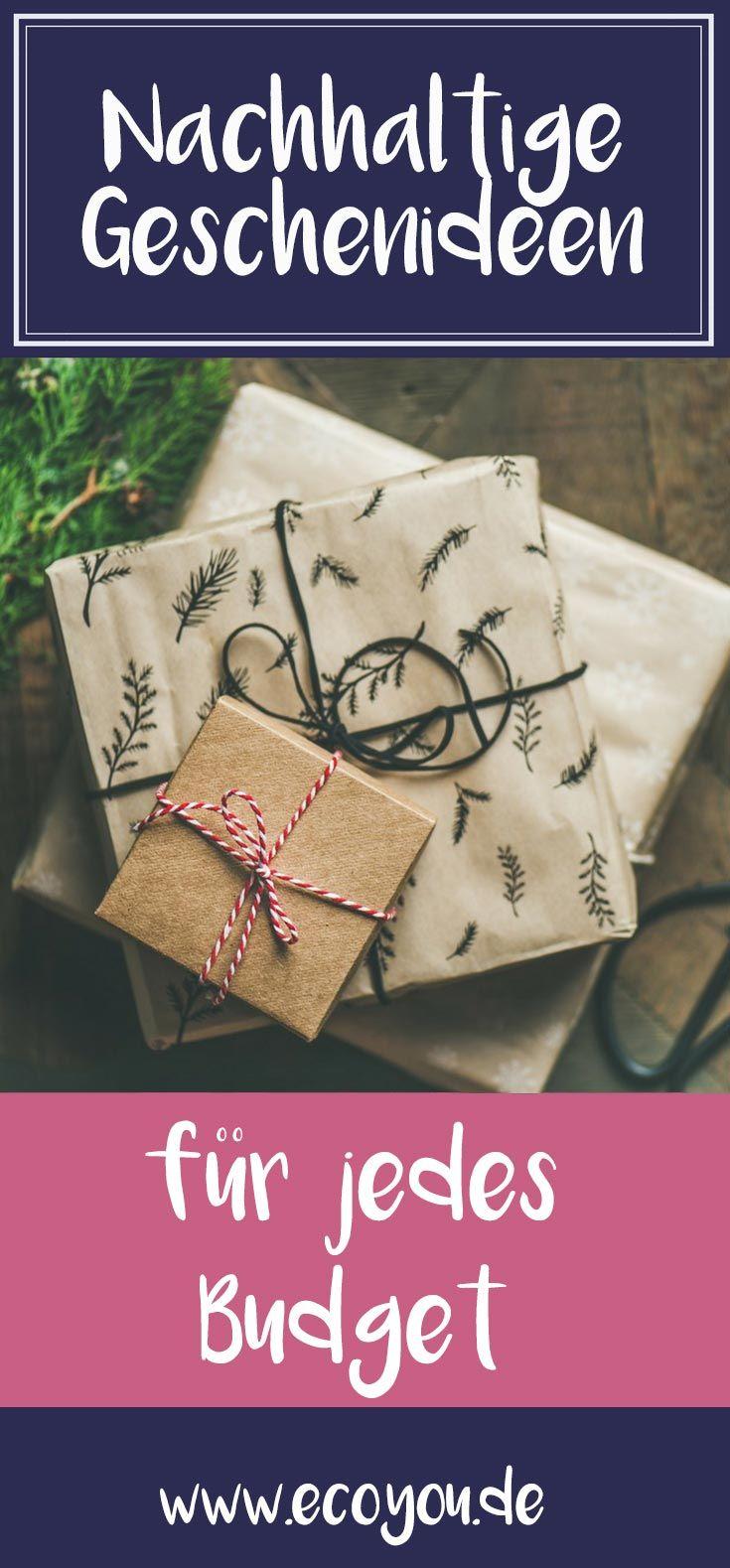 Nachhaltige Geschenke für jedes Budget - Öko Geschenke l | Geschenke ...