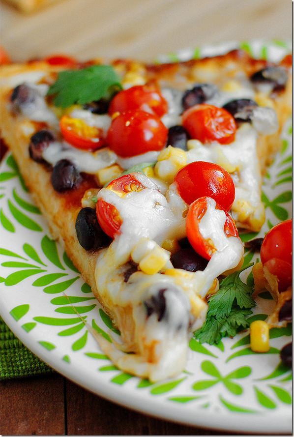 Santa Fe flavors meet fresh summer produce in Santa Fe Summer BBQ Pizza. This mouthwatering homemade pizza recipe is nearly fool proof! There are some things I know better than to go trying to make at home. For instance, candy, right? Hot, molten sugar? On my stove? And do what...