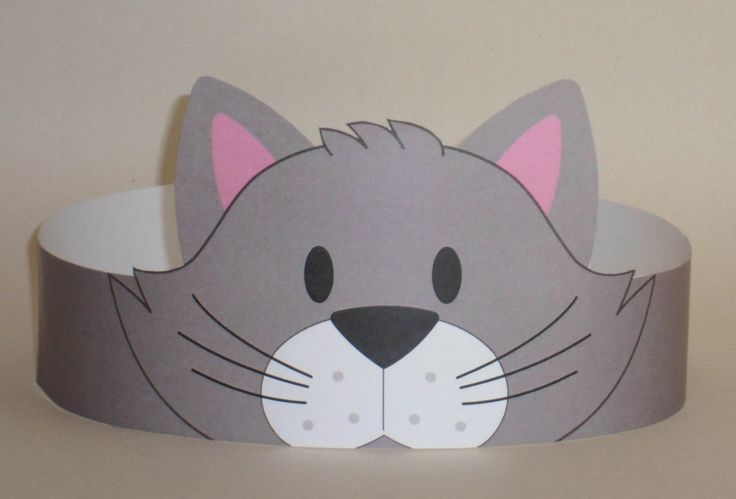 Cat Gray Crown Printable van PutACrownOnIt op Etsy