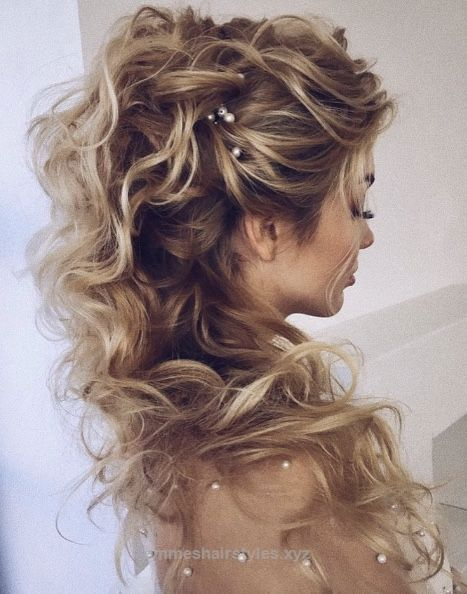 Best Wedding Hairstyles For Medium Hair 2019 - Page 26 of 26 - HAIRSTYLE ZONE X #weddinghairstyles