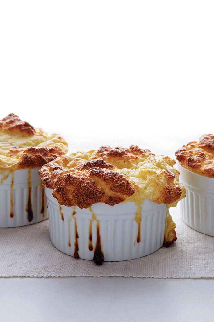 PHASE 6 LEAP -Cauliflower and goat cheese souffles -Parmesan cheese, cauliflower, goat cheese, nutmeg, egg, salt, pepper