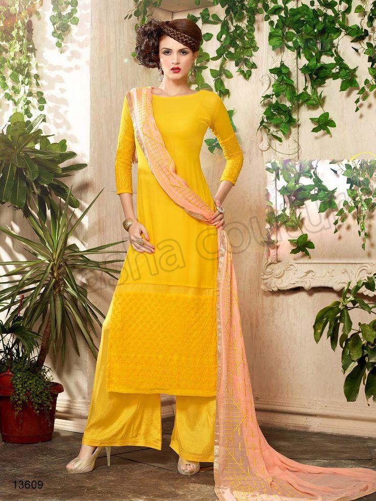 #Designer Stright Suits#Pakistani Suit#Indian Wear#Yellow #Desi Fashion #Natasha Couture#Indian Ethnic Wear# Salwar Kameez#Indian Suit#Pakastani Suits# Palazoo