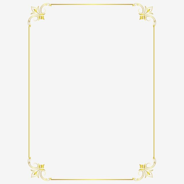 European Gold Border Frame Png Element Border Clipart Gold Border Png And Vector With Transparent Background For Free Download Free Frames And Borders Gold Border Border Templates