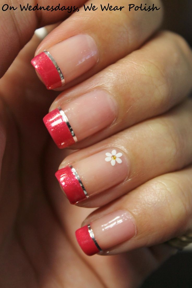 gorgeous red french manicure